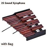 Pretty-jin Birken-Xylophon 25 Töne Holz Xylophon Percussion Orff Xylophon Pianoforte-Paket