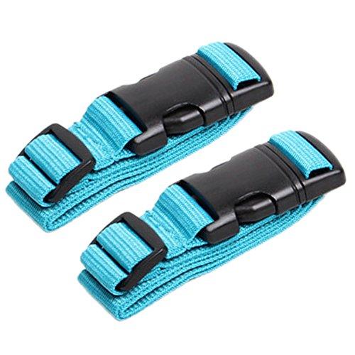 Fashion Gepäck 3 Stück (aveson 2Stück add-a-bag Koffergurt, Gepäck Koffer verstellbarem Gürtel Travel Zubehör Befestigung –, Ihre Drei Gepäck zusammen, blau)