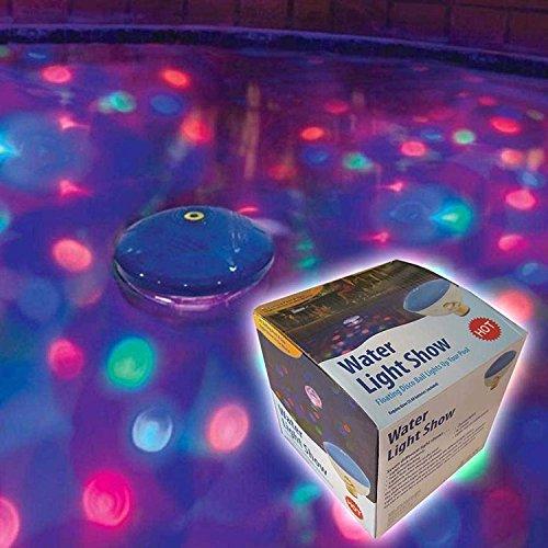 Unterwasserlichtshow mit 4 leuchtstarken LED's Teichbeleuchtung Poolbeleuchtung