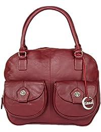 Klasse Designer Pure Leather Handheld Bag For Women