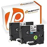 Bubprint 2 Schriftbänder kompatibel für Brother TZe231 TZe-231 für P-Touch 1000 1005 1010 1080 1090 1200 1230 1250 1260 1280 schwarz auf weiß 12mm 8m