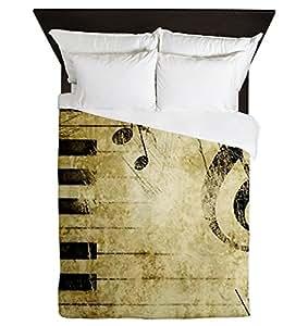 queen housse de couette musicien touches de piano et notes de musique cuisine maison. Black Bedroom Furniture Sets. Home Design Ideas