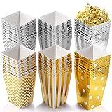 POAO 50 Stück Popcorn Boxen, Pappe Candy Container Partytüten Behälter für Party Geburtstag Hochzeit Geschenk,12 x 7CM (50 Stück)