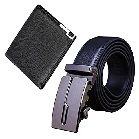 Zhhlaixing portefeuille 2PCS Men's Luxury Accessory Cowhide Leather Money Coin