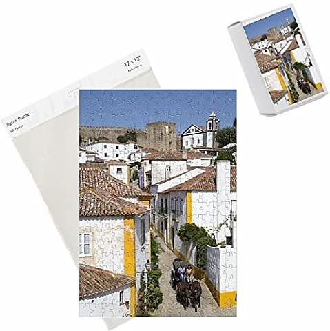 Photo Jigsaw Puzzle of Horse drawn carriage, and overview of City with Medieval Castle in the