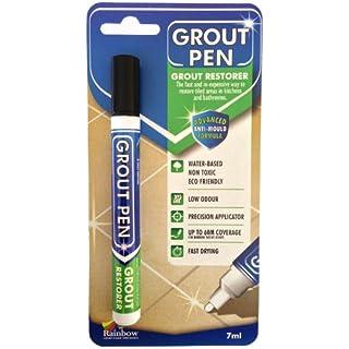 Grout Pen - Designed for Restoring Tile Grout in bathrooms & Kitchens (Black)