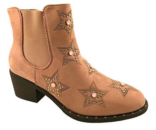 Mc Footwear Damen Cowboystiefel, Pink - Rose - Größe: 37.5