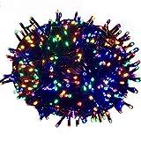 HENGMEI LED Lichterkette Lichterwand Lichtervorhang 8 Leuchtmodi IP44 Wasserfest Innen/Außen für zimmer Dekor, Weihnachten, Halloween (Bunt, 100m)