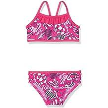 Speedo Girls 'mareas Idol esencial 2piezas Bañador, niña, color Electric Pink/Navy/White, tamaño 2 Años