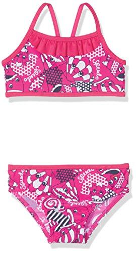 Speedo Girls 'mareas Idol esencial 2piezas Bañador, niña, color Electric Pink/Navy/White, tamaño 3 Años