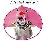 UFO Headwear Regenmantel ❤ Netter Kind Regenmantel Raincoat PEVA Wasserdichte Mantel Regenschirm-Hut-Magische Hände Geben Regenmantel Frei