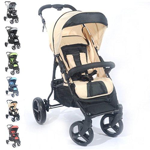Buggy S8 Jogger Kinderwagen Baby Sportwagen Babywagen (Crema)