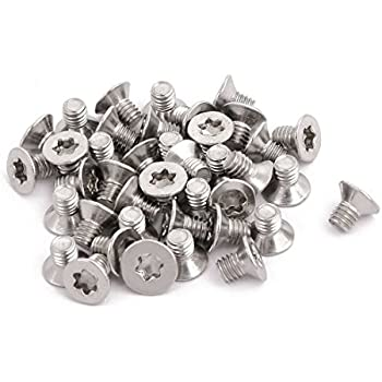 sourcing map M5x30mm enti/èrement acier inox 304 Fil vis Torx affleurant Fixations 40pc