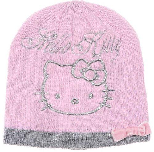 Hello kitty-bonnet nudo terciopelo niño Niña Ref 4338rosa 5/8ans