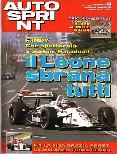 Autosprint Autosprint 12 del Marzo 1993 Prost Senna Mosley