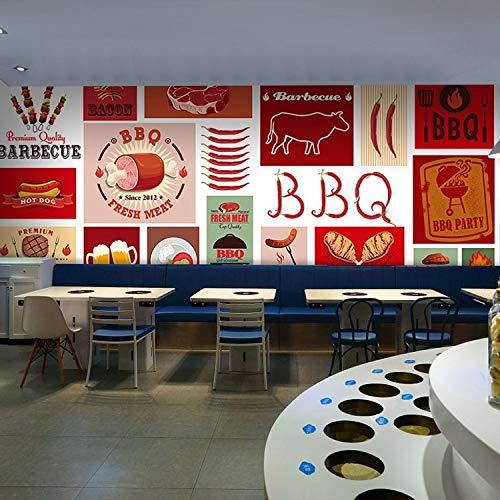 Hnsd 3D Wandgemälde benutzerdefinierte wandbild amerikanischen rindfleisch steak grill icon mural...