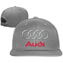 Yhsuk Audi Logotipo Unisex Fashion Cool Adjustable Snapback Gorra de béisbol Tiene One Size Ash
