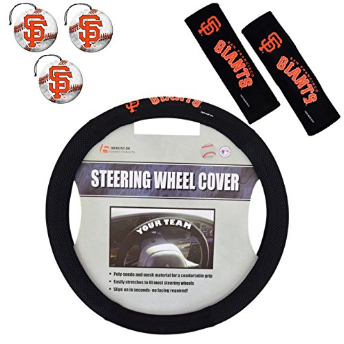 gue Baseball Fan Shop Authentic Auto Zubehör MLB Team Bundle, San Francisco Giants ()