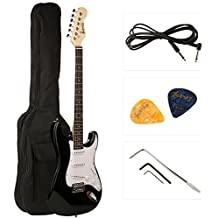 Juarez JRZ-ST01 6-String Electric Guitar, Right Handed, Black, Without Case