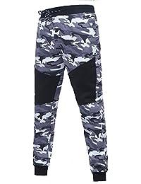 JiaMeng Deporte Jogging Pantalones Camuflaje Deportivo Correas de sujeción  Pantalones de chándal Sueltos onales Pantalón con a364ba6fa830