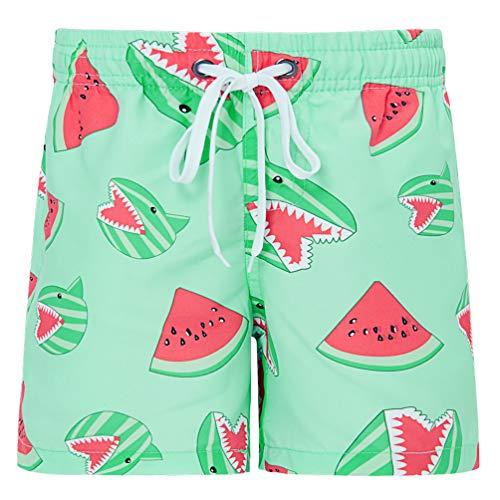 Funnycokid Kinder Sweatpants Shorts Sommer 3D Print Wassermelone Surfen Strand Shorts Schwimmen Tragen Lässige Sport Jungen Badeshorts Hosen
