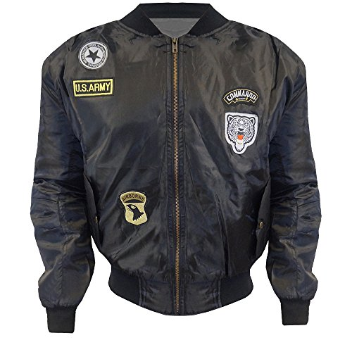 womens-ladies-vintage-ma1-badge-us-air-force-army-zip-patch-bomber-biker-jacket