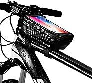 Borsa Telaio Bici Porta Cellulare, Impermeabile Manubrio per Borse Biciclette Touch Screen, Supporto Bici MTB,