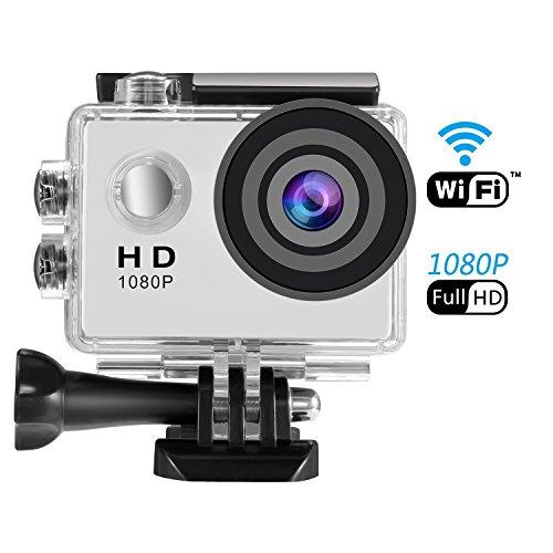 Action Cam WIFI 1080P, SENDOW Action Kamera WIFI Ultra HD Actionkamera Wasserdicht Zeitraffer Motorrad Helmkameras Sport Kamera mit Fernbedienung 170 Grad Weitwinkel Handgelenk-fernbedienung