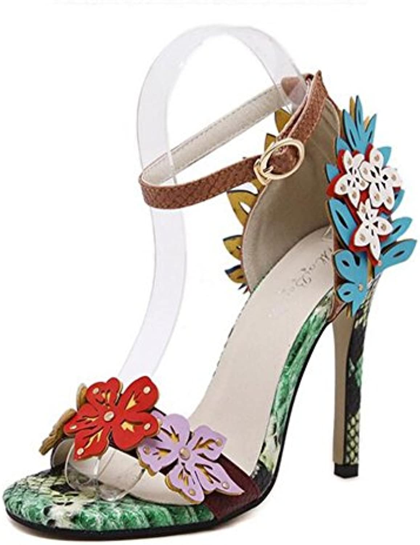 L@YC Femmes Talons Hauts Buckle Luxe Serpentine Hollow Comfortable Buckle Hauts Fine Dance Dress ShoesB0741728WPParent 883938