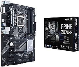 Asus PRIME Z370-P Scheda Madre con Illuminazione LED, DDR4 4000 MHz, Dual M2, Intel Optane Memory Ready, HDMI, SATA 6 Gb/s, Nero