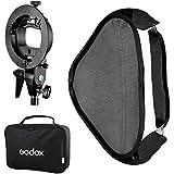 Godox Kit de Modificateur de Lumière Boîte de lumière softbox 80x80cm + Nouveau Forme de S Sabot de Support de flash (Monture Bowens) pour Flash Godox V850 V860c AD360 Canon 430EX/430EX II 580EX Nikon SB 800 YONGNUO 568 EX II etc.
