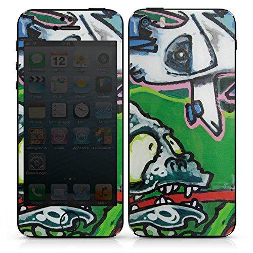 Apple iPhone SE Case Skin Sticker aus Vinyl-Folie Aufkleber Monster Fantasie Art DesignSkins® glänzend