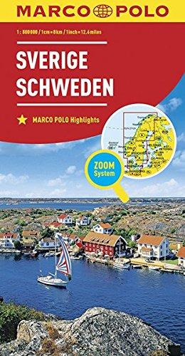 MARCO POLO Länderkarte Schweden 1:800 000 (MARCO POLO Länderkarten): Alle Infos bei Amazon