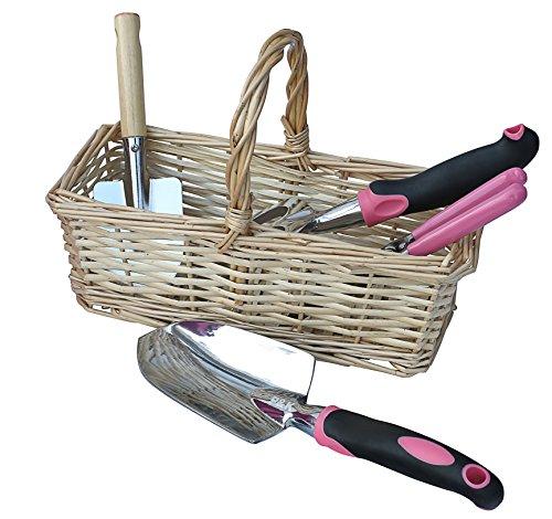 49 teiliges Gartenwerkzeugset mit Korb und Tasche - 3