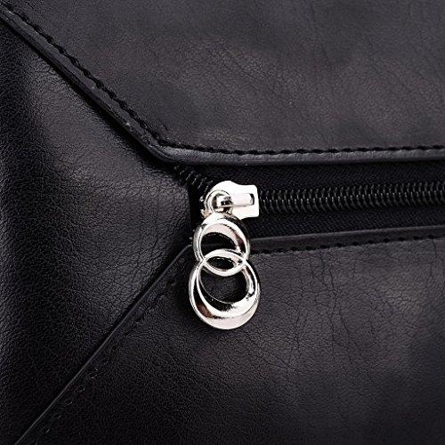 Kroo Pochette Portefeuille en Cuir de Femme avec Bracelet Coque pour HTC Desire 816G Dual SIM/820q Dual SIM noir - Black and Blue noir - Noir/rouge