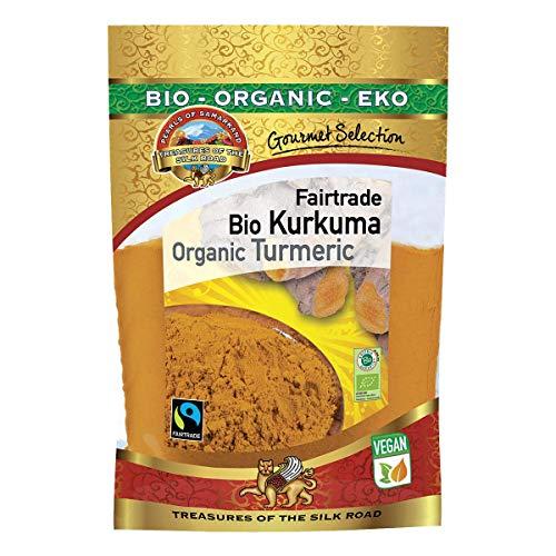 Curcuma in polvere BIO Fairtrade 600g radice di curcuma in farina, crudo, alto contenuto e dosaggio di curcumina del 6% biologicasenza glutine vegan low-carb organic turmeric powder