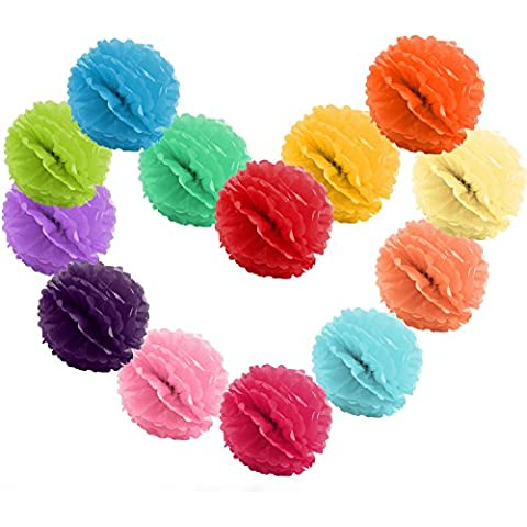 Discoball Wedding decorations 30 tissue paper pompoms - 3 sizes - party - pom poms Many Colours to Choose From ... by