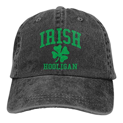 j65rwjtrhtr Men & Women Adjustable Denim Fabric Baseball Cap Irish Hooligan Dad Kappen
