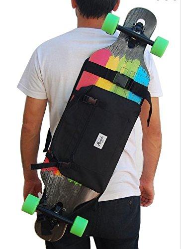 Rucksack, um das Longboard und Skateboard zu tragen..Trendiger Umhängerucksack Crossover Rucksack Schulterrucksack Slingbag Body Bag Crossbag Skaterruc (Dakine Ridge)