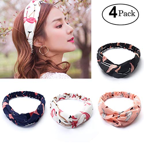 Fascia per Capelli Attiant 6 Pezzi delle donne elastiche Modern Style  Vintage Turbante fasce ritorto Flamingos d4925069d0f9