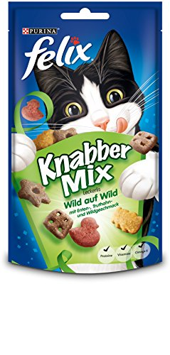 katzeninfo24.de Felix KnabberMix Katzenleckerlies, 8er Pack (8 x 60 g Beutel)