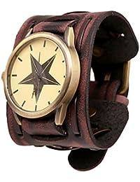 Relojes Hombre,Xinan Gran Ancho Cuero Brazalete Reloj de los Hombres Fresco (Brown)