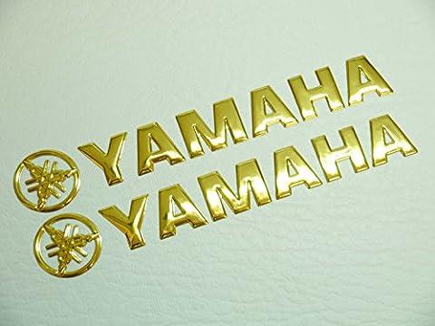 2x Gold Yamaha Motorrad Badge Emblem Motorrad Fuel Tank Aufkleber