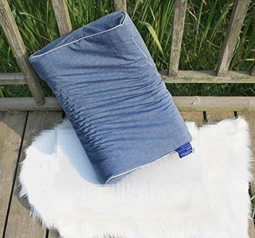 IWTG Latex Kissen Schaum Anti Schnarchen Tiefschlaf Kissen, Kissenbezug aus Baumwolle
