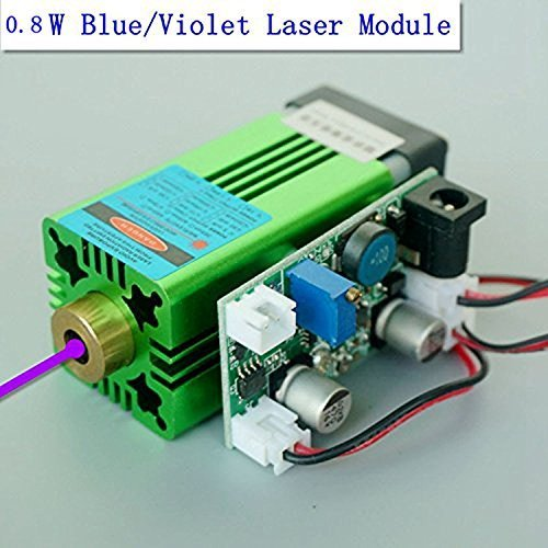 Industrie 405nm 0,8W 800mW Blau / Violet Laser Dot Modul 12V w/ UV-Aushärtung 3D Druck Laser