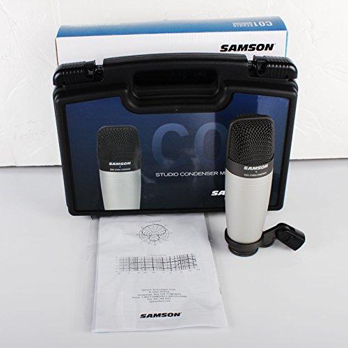 Samson SAC01 - Micrófono condensador de estudio (tamaño grande)