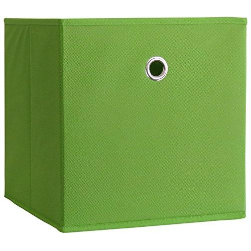 """Faltbox Klappbox Sammelbox Stoffbox Aufbewahrungsbox Regalbox Regalkorb Korb ohne Deckel Grün 28x27x27 cm """"Boxas"""