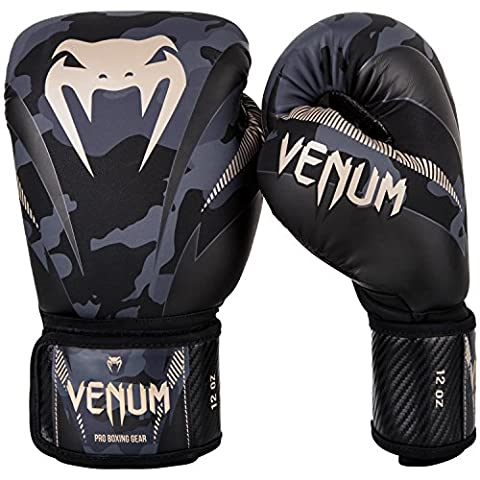 Venum Men's Impact Boxing Gloves, Dark Camo/Sand,