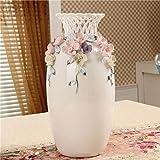 Moderne Zu Hause Dekorationen Blütenfarbe Amerikaner Auf Dem Land Gravieren Blumen Vase Kreativ Geschenke Keramik Kunsthandwerk Schmuck