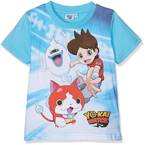 Yokai Watch YKSU27110, Camiseta Para Niñas, Azul (Blue), 4 Años